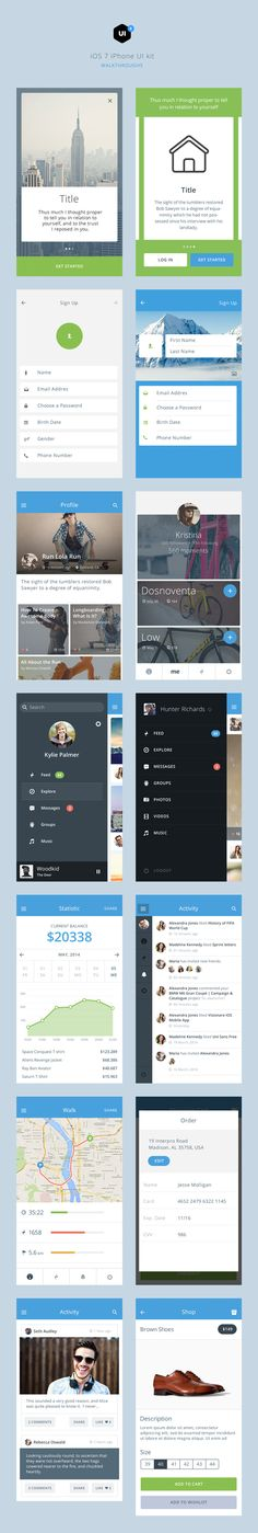Bolt is a beautiful iOS 7/iOS 8 UI kit that will inspire you to build amazing iOS apps and interfaces. #UI #UX
