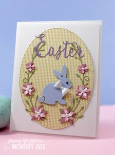 Hello Crafty Friends, Thank you for stopping by today. Hope you're not too shocked to see an Easter card already but I just realized Easter is only 10 days after St. Patrick's Day this year--yikes! This little bunny was calling out to me so, here goes... The word