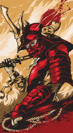 A samurai in red armor waiting for the enemy Hxh Characters, Fantasy Characters, I Phone 7 Wallpaper, Lit Wallpaper, Arte Dope, Samurai Wallpaper, Samurai Artwork, Japanese Warrior, Japanese Art Samurai