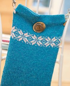 Fair Isle bag - free knitting pattern download from Let's Knit!