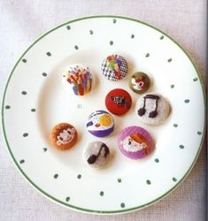 Embroidered Buttons by vilma