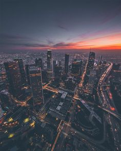 Sky-High Images of Los Angeles at Dusk and Dawn by Dylan Shwartz