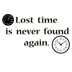 Copy Of Wall Decor Quote About Lost Time