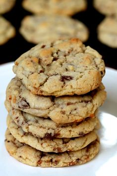 These Toffee Chip Cookies are so softy and chewy! Our whole family fell in love with them!