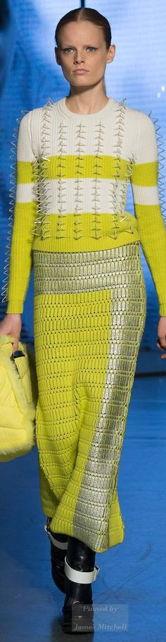 Kenzo Collection Fall 2014 Ready-to-Wear Couture Fashion, Runway Fashion, High Fashion, Winter Fashion, Fashion Show, Yellow Fashion, Textiles, Knitting Designs, Kenzo