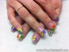 flower acrylic 4 nail art