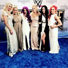 S Q U A D #HOF 6 gorgeous wwe women's superstars.