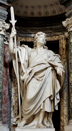 Saint Jude (Judas Thaddeus) by Lorenzo Ottoni (1704-09) in the Archbasilica of St. John Lateran