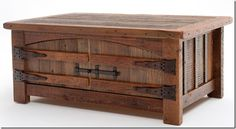 Barnwood Coffee Table - Heritage Collection - Two Doors - Reclaimed Wood - Item - Custom Sizes Available Door Coffee Tables, Reclaimed Wood Coffee Table, Rustic Coffee Tables, Coffee Table With Storage, Reclaimed Barn Wood, Old Wood, Coffe Table, Rustic Barn, Rustic Wood Furniture