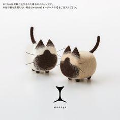 woonya【siamese】 猫/cat/羊毛フェルト/Needle Felting