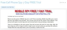 http://freecellphonespy7daytrial.weebly.com/    Free Cell Phone Spy    MobileSpy 7 Day Free Trial - Try MobileSpy Smartphone Spy Software FREE for full 7 days - FREE Cell Phone Spy.    mobilespy free trial, mobilespy 7 day trial, mobilespy phone spy, mobilespy, mobile spy  Top of Form