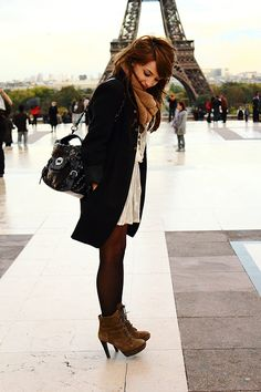 Someday I will go to Paris and wear cute clothes from paris and take a picture in front of the beautiful eiffel tower =]