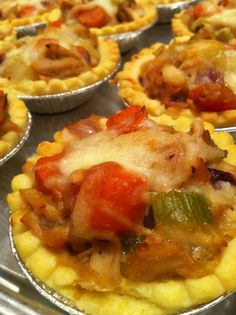 Mini turkey pot pies topped with @Bothwell Cheese aged white cheddar cheese.