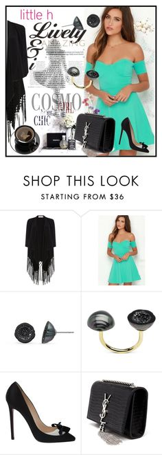"""""""Little h Jewelry"""" by lila2510 ❤ liked on Polyvore featuring Soaked in Luxury, Pearl & Black, Christian Louboutin, Yves Saint Laurent, pearljewerly and littlehjewerly"""