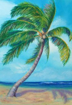 paintings of palmtrees | Palm Tree 1 - WetCanvas