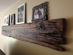 Driftwood wall hanging / picture holder / shelf on Etsy, $100.00