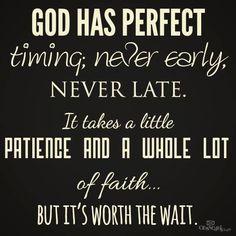 Always worth the wait! #ShareTheFaithOfGod