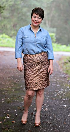 A Pocketful of Polka Dots : Leopard & Chambray