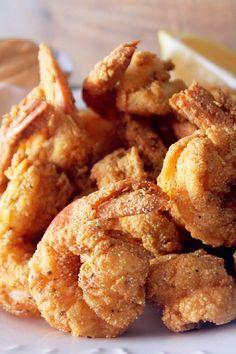 Creole Fried Shrimp #seafood FoodBlogs.com