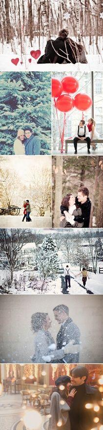 39 Winter Engagement Photos - Winter Wonderland