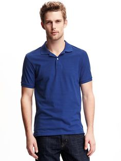 Short-Sleeve Pique Polo for Men