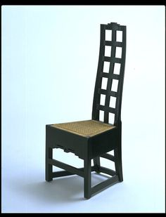 High Backed Chair, 1916 | Charles Rennie Mackintosh | Materials and Techniques: Wood and cane.