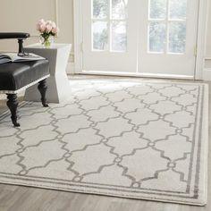 Safavieh Amherst Indoor/ Outdoor Ivory/ Grey Rug (5' x 8') $110