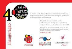 Galeria ICG: Convite 4º Salão de Artes Visuais CCFA