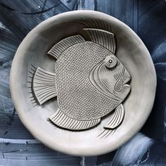Ceramic fish plate loosely based on John Dory