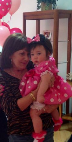 Princess Payton and her great Grandmother! who adores Payton and Payton  is thinking has that Minnie left yet :)