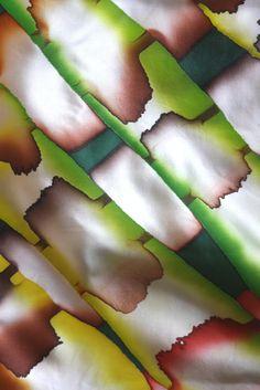 Hand painted silk scarf by Asta Masiulyte, http://astasilk.com/