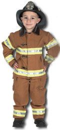 Toddler Firefighter Costume with Helmet - Tan