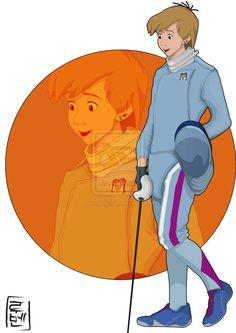 Disney Characters as University Students by Ruben B. Caballero (http://hyung86.deviantart.com/). Arthur