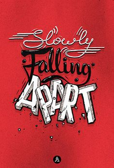 Falling Apart typography by Adrian Iorga