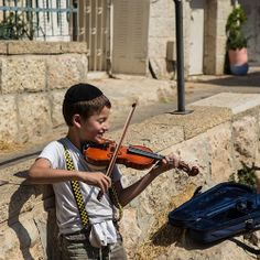 In the streets of Jerusalem.