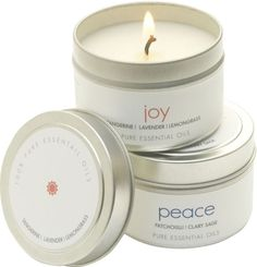 The Pure Candle Peace & Joy Candle Set (4 OZ) (Set of 2)