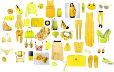 """All things yellow"" by inspire-2014 ❤ liked on Polyvore"