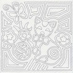 Awareness Ribbon Embroidery Pattern | Machine Embroidery Designs at Embroidery Library! - Mola Calico Cat ...
