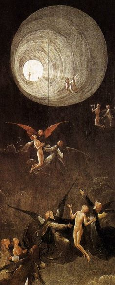Hieronymus Bosch (1450-1516)  'Ascent of the Blessed' c.1500. One of my favourites ♥