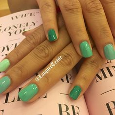She wanted some something a little different for her birthday #greenombre #greenombrenails #nails #nailsofig #nailtech #nailjunkie #nailpolishaddict #essie #opi #junemani #oliveandjune #oliveyourmani