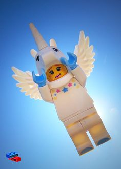 "Lego Minifig Scene Print - ""Unicorn Magic"""
