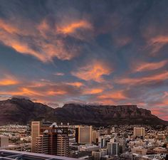 City of dreams. By: by foreversouthafrica Seattle Skyline, New York Skyline, Table Mountain, Dream City, Cape Town, Happy Mothers Day, Wonders Of The World, South Africa, Clouds