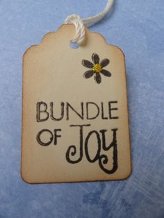 Baby Tags Bundle of Joy Baby Shower Tag Newborn Tag by PaperKind