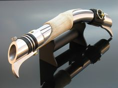 Genesis Sabers -Darth Bane Curved Lightsaber by Rob Petkau Lightsaber Design, Custom Lightsaber, Lightsaber Hilt, Darth Bane, Starwars, Jedi Sith, Star Wars Light Saber, Jedi Knight, Star Wars Baby