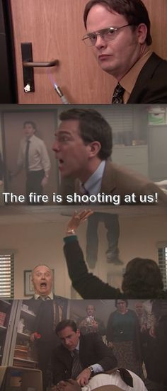 """And literally everyone during Dwight's fire drill: 