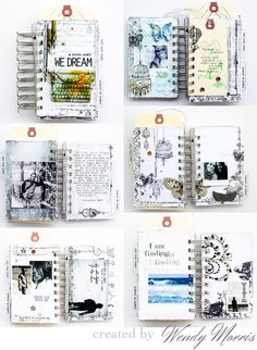 Switching gears...our Epiphany line will work wonders on ANY type of project! Just look at this dreamy mini-album created by Wendy...featuring a tender love story accented with Epiphany papers, stamps, 3D Stickers, and Ephemera. It's a delightful keepsake that will be treasured forever! #minialbums #epiphany #journals