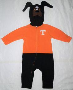 Tennessee Volunteers Toddler Fleece Mascot Outfit Orange Black College 24 mo #MascotWear #TennesseeVolunteers