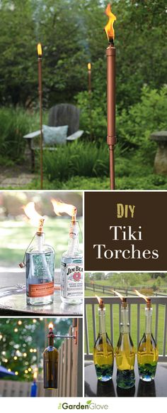 DIY Tiki Torches • Repinned by Alvarado Paint & Hardware, www.alvaradopaint.com