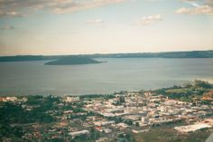 Lake Rotorua and the town