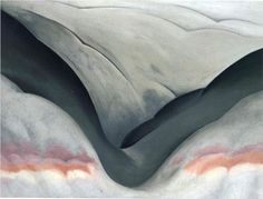 Black Place, Grey and Pink - Georgia O'Keeffe (1887-1986)